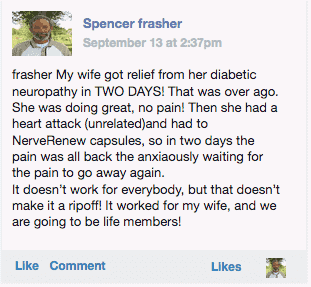Spencer providing his review of Neuropathy Support Formula