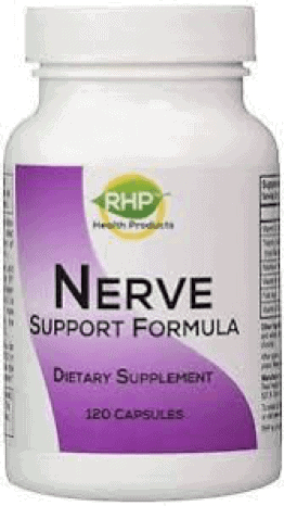 A single bottle of Nerve Support Formula by Real Health Products