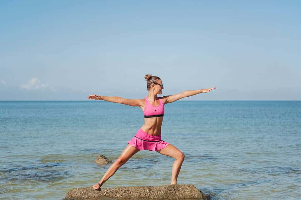Virabhadrasana Warrior II yoga pose