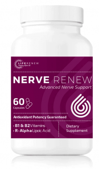 A single bottle of Nerve Renew by the Neuropathy Treatment Group